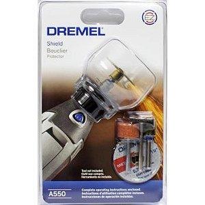Kit Acomplamento Capa de Proteção c/ 4 acessórios Dremel A550