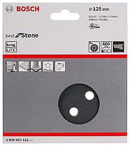 Disco de Lixa  Grão 600 Bosch Best Stone 125mm
