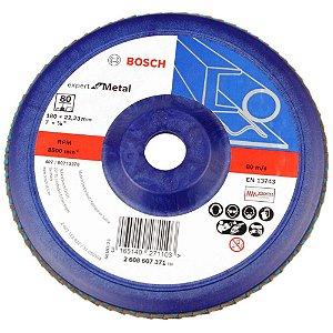 Disco Flap de 7 Pol. com Grão 80 para Metal Bosch
