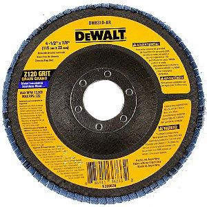 """Disco de lixa flap disc reto 4.1/2 """" grão 120 DeWalt DW8310P-AR"""