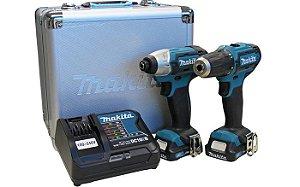 Combo Furadeira e Parafusadeira a bateria 12v Max MAKITA CLX201SAX