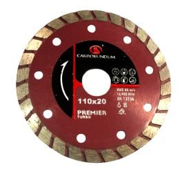 Combo 10 Discos Diamantado Premier Turbo 110mm CARBORUNDUM