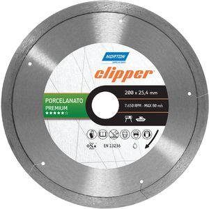 Disco Clipper Diamantado Porcelanato Premium 200X25,4mm Norton