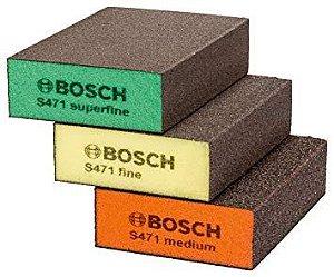 Kit de Esponjas Abrasivas Best Flat & Edge 3 unidades BOSCH 2608621253