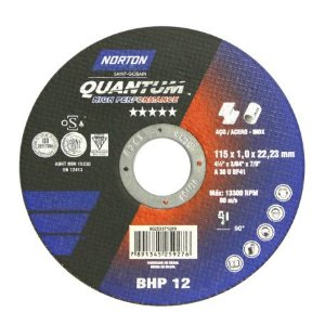 Disco de Corte BHP 12  Linha Quantum 115mm  NORTON 66253371289