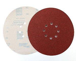 Disco de Lixa Grão 80 230mm com 8 furos pluma NORTON A257