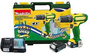 Parafusadeira Furadeira de Impacto com 2 Baterias 12V CXT MAKITA HP331DBR