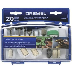 Kit Dremel 20 acessórios para limpeza e polimento - 684-01