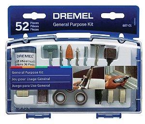 Kit Dremel 52 acessórios de uso geral 687-01