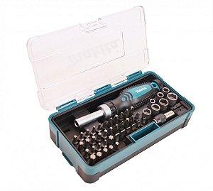 Jogo de bits phillips, torx e soquete com 47 peças Makita B-36170