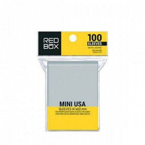 Sleeves Redbox: MINI USA (41 x 63 mm) - Pacote c/100