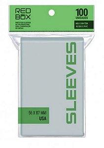 Sleeves Redbox: Padrão USA (56 x 87 mm) - Pacote c/100