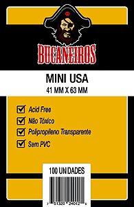 Sleeves Bucaneiros: Mini USA (41 x 63mm) - Pacote c/ 100