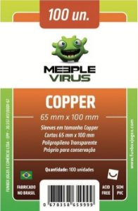 Sleeves Meeple Virus: Copper (65 x 100 mm) – Pacote c/100