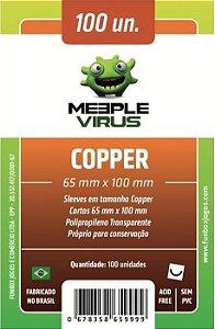Sleeves Meeple Virus: Copper (65 x 100 mm) – Pacote c/100