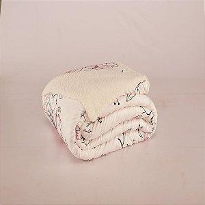 Cobertor Top Line Solteiro Lã de Carneiro 1 peça Malta
