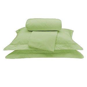 Jogo Lençol Tous Les Jours Queen 4 Pçs 100% Algodão Verde