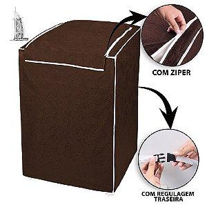 Capa para Tanquinho Impermeável 8 kg Lavar Roupa Marrom