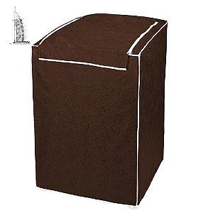 Capa para Máquina de Lavar Roupas Impermeável 10/12kg Marrom