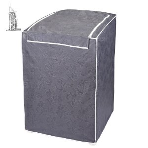 Capa para Máquina de Lavar Roupas Impermeável 10/12kg Cinza