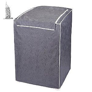 Capa para Máquina de Lavar Roupas Impermeável 13/16kg Cinza