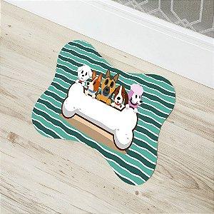 Tapete de Porta Transfer Osso Cachorro Dog Capacho