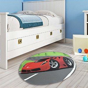 Tapete de Quarto Transfer Criança Arts Oval Carros