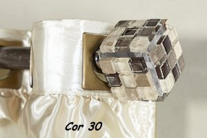 Ponteira Cor 30 Para Varão De Cortina  28 mm