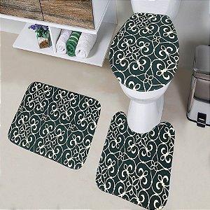 Jogo de Banheiro Tapete Tecil Pop 3 peças Ornament