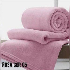 Mantinha Soft Manta Fleece Casal Microfibra Rosa