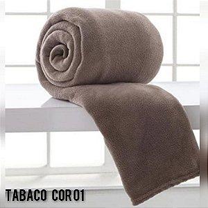 Mantinha Soft Manta Fleece Casal Microfibra Tabaco