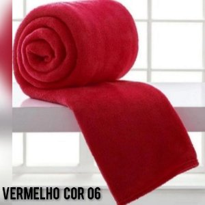 Mantinha Soft Manta Fleece Casal Microfibra Vermelho