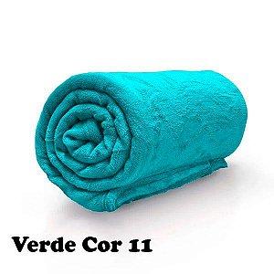 Mantinha Soft Manta Fleece Casal Microfibra Verde