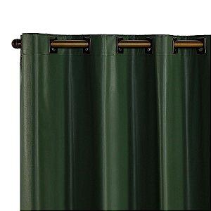 Cortina Blackout PVC corta 100 % a luz 2,80 m x 2,30 m Verde