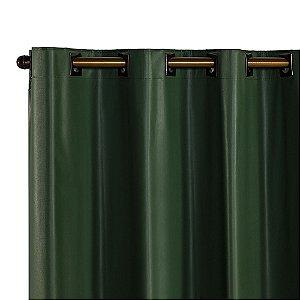 Cortina Blackout PVC corta 100 % a luz 2,80 m x 1,80 m Verde