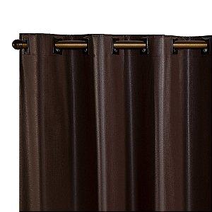 Cortina Blackout PVC corta 100 % a luz 2,80 m x 1,80 m Tabaco