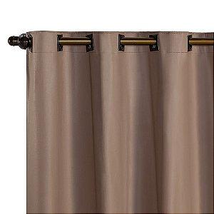 Cortina Blackout PVC corta 100 % a luz 2,80 m x 1,80 m Avelã