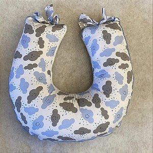 Almofada de Amamentação Almofada Amamentar Nuvem Azul Bebê