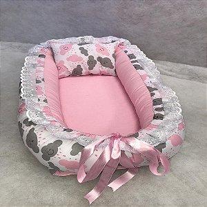 Ninho de Bebe Ninho Redutor de Berço Nuvem Rosa