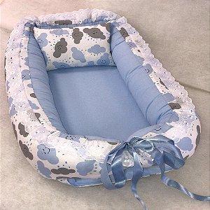 Ninho de Bebe Ninho Redutor de Berço Nuvem Azul Claro