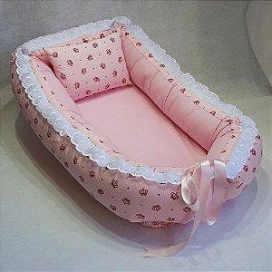 Ninho de Bebe Ninho Redutor de Berço Coroa Rosa Lançamento