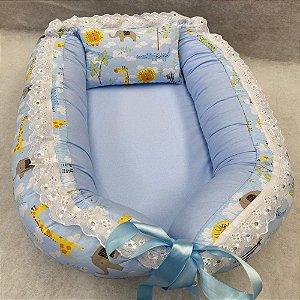 Ninho de Bebe Ninho Redutor de Berço Savana Azul Lançamento