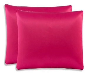 Kit 2 Fronhas De Cetim (01 Par) Anti Frizz 70cm X 50cm Pink