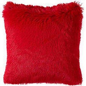 Capa De Almofada Decorativa Peluda Capa Almofada 42x42 Vermelho