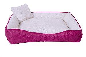 Cama Pet Cães ou Gatos Sherpa Pink Tamanho: P