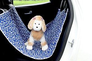 Protetor Pet Traseiro para veiculo Patas Azul