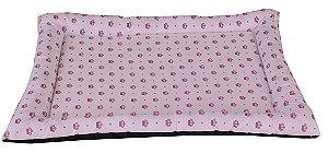 colchonet pet impermeável para cachorro ou gato 65x86 Realeza rosa