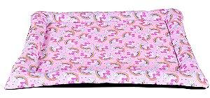 colchonet pet impermeável para cachorro ou gato 65x86 Unicornio rosa