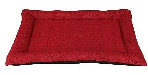 colchonet pet impermeável para cachorro ou gato 65x86 vermelho