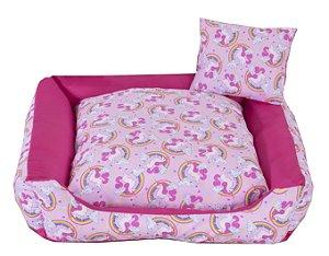 Cama Pet Tricoline Para Cachorro E Gato Tam M Unicolors Rosa